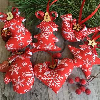 """Новогодний набор """"красные снежинки"""""""