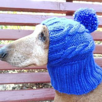 Шапка для собаки,шапка для маленькой собачки,шапка для таксы,зимняя шапка