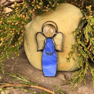 Брошь Ангелочек голубой Подарок девушке, маме Подарок на Новый год, Рождество