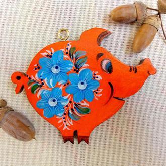 Фигурка подвеска - свинка