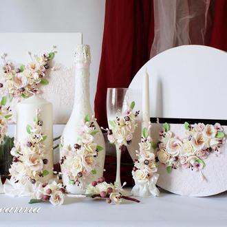 Коллекция свадебных атрибутов «Вишневый поцелуй»