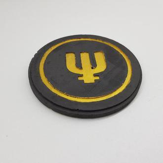Primecoin подставка под чашку Primecoin из бетона - черный с золотым