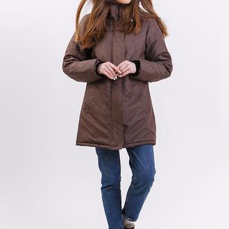 Парка женская DASTI Hoverla Edition коричневый меланж  классик
