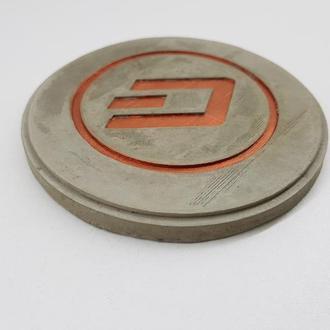 Dash подставка под чашку Dash из бетона - серый с медью