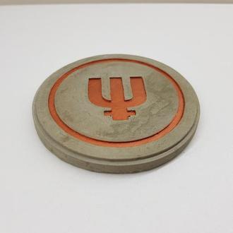 Primecoin подставка под чашку Primecoin из бетона - серый с медью