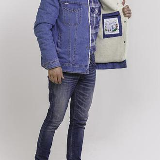 Джинсовая куртка на овчине мужская DASTI Denim