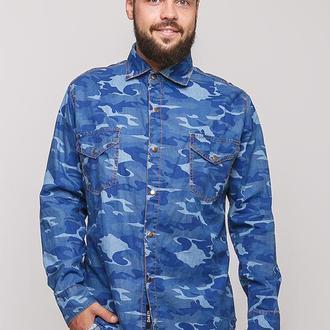 Мужская джинсовая рубашка камуфляж Dasti  (Denim)