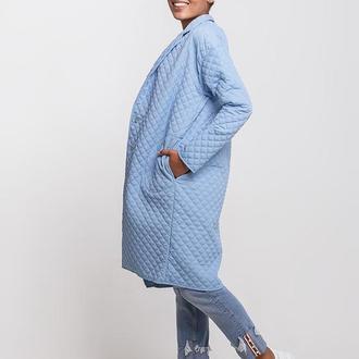 Женское стеганое пальто голубое Woolwich Dasti