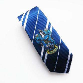 Галстук Рейвенкло (Когтевран) из Гарри Поттера, галстук Рейвенкло с нашивкой