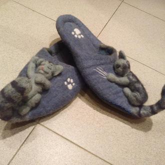 Тапочки(Коты-Шалунишки)