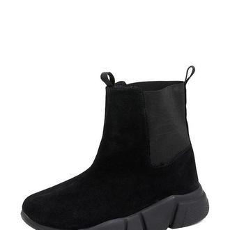 Женские кроссовки Dasti  высокие черный замш