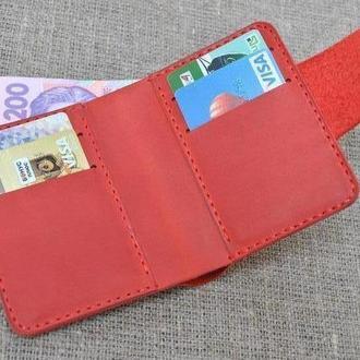Кошелек из красной винтажной кожи K35-580