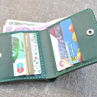 Кожаный кошелек квадратной формы K32-350
