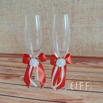 Свадебные бокалы для шампанского арт. 9003