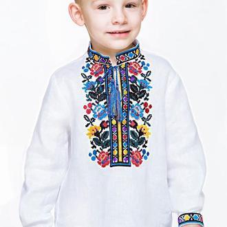 Вышиванка для мальчика с дизайнерской вышивкой