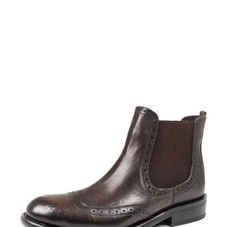 Ботинки с перфорацией мужские DASTI Chelsea коричневые