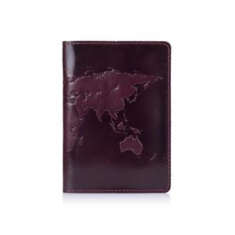 "Обложка для паспорта  HiArt PC-01 Crystal Sangria ""World Map"""