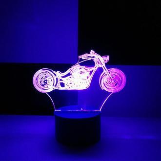Ночник Чоппер, мотоцикл, светильник, LED лампа, игрушка, подарок мальчику мужчине, декор, освещение