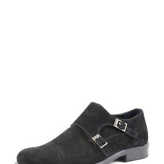 Туфли замшевые с пряжкой мужские DASTI Courage черные