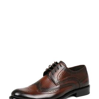 Туфли с перфорацией мужские DASTI Summer коньяк