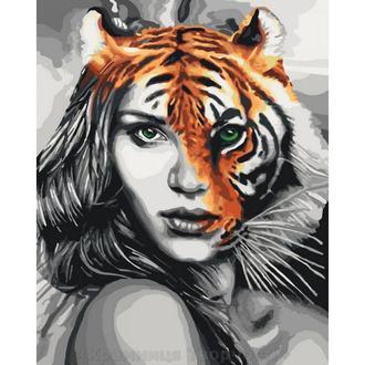 Картина по номерам Душа тигрицы, 40x50 (КНО4518)