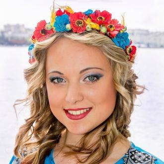 Обруч на голову в украинском стиле