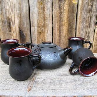 Чайний набір на 4 особи чорний