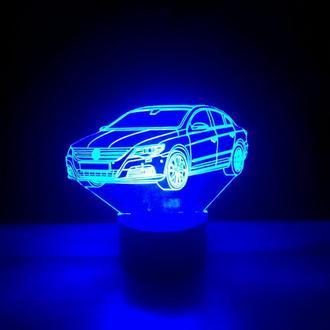Ночник 3d светильник Фольксваген, авто, игрушка, подарок для мужчины, декор, интерьер