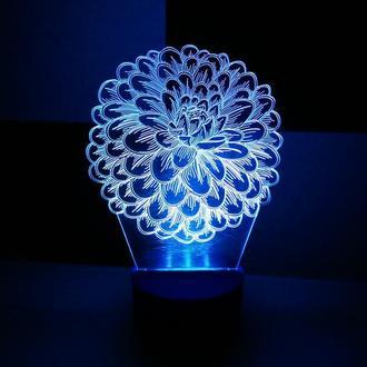 Ночник светильник Цветок, подарок для девушки сувенир декор интерьер для спальни оригинальный