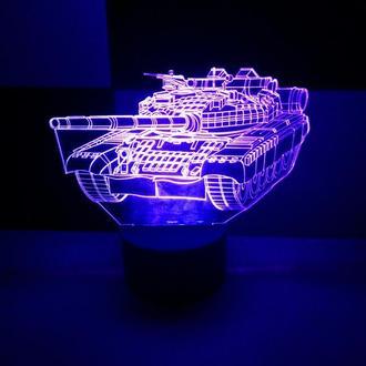 Светильник ночник Танк, детский подарок для мужчины сувенир декор интерьер необычный игрушка