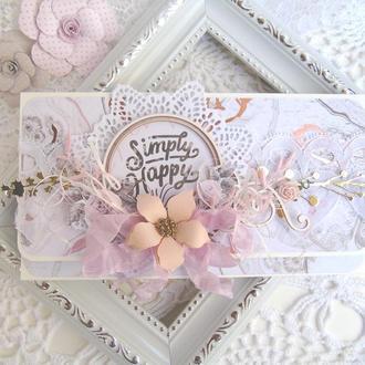 Свадебный конверт для денежного подарка