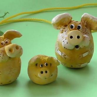 Свинья фигурка свинка №5 Семья набор
