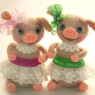 Брелок для сумки свинка балеринка