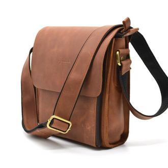 Кожаная сумка через плечо из крейзи хорс TARWA 3027
