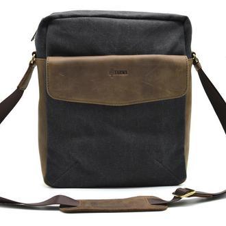 Мужская сумка парусина+кожа Tarwa 1810
