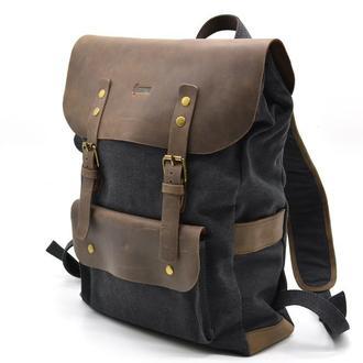 Рюкзак унисекс парусина+кожа TARWA RG-9001