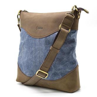 Мужская сумка комбо парусина+кожа RK-1807-4lx бренда TARWA. Эксклюзив