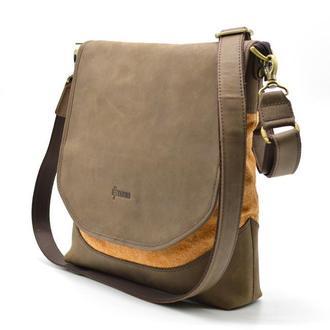 Мужская сумка через плечо кожа+парусина RY-18072-4lx бренда TARWA