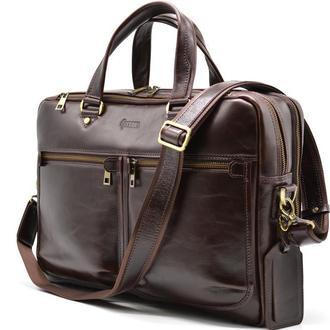 Мужская кожаная сумка для ноутбука и документов TX-4664-4lx TARWA