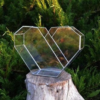 Флорариум Сердце 28х19 см.