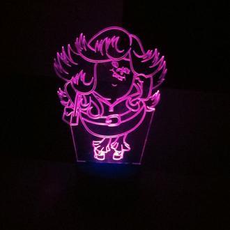 Ночник светильник Тролли, Леди Блести-сверкай, игрушка подарок детский сувенир для девочки интерьер