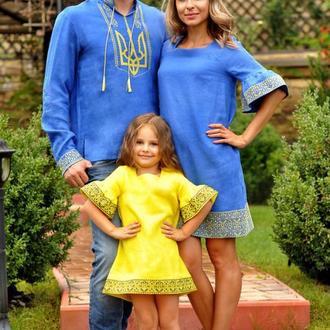 Оригинальный семейный комплект в национальном стиле