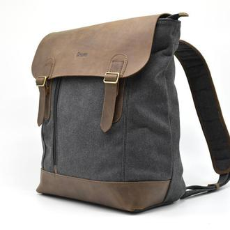 Рюкзак городской, парусина+кожа RC-3880-G от бренда TARWA