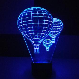 """3d акриловый светильник-ночник """"Воздушные шары"""" оригинальный сувенир подарок декор"""