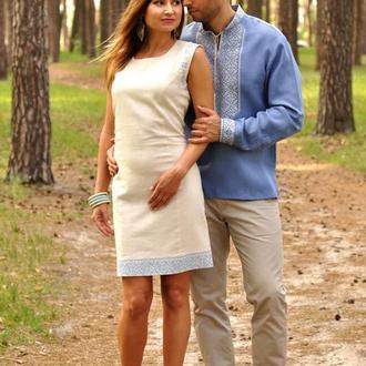 Чоловіча сорочка з вишивкою і вишитий жіноче плаття-футляр