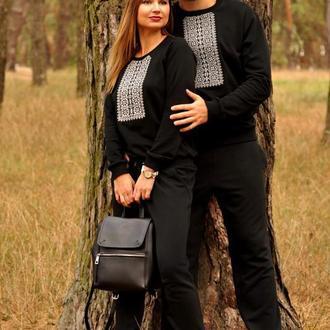 Костюм чоловічий та жіночий комбінезон з вишивкою