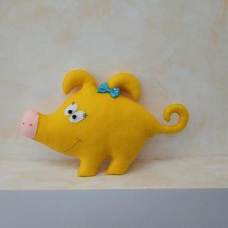 Веселая свинка Нюша  из фетра