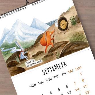 Календарь 2019 с акварельными рисунками