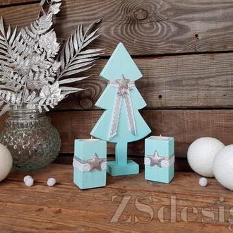 """Набір новорічного декору """"Mint snow"""""""
