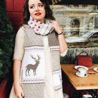 Вязаный шарф « Этьен»